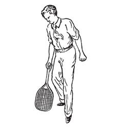 half-volley vintage vector image