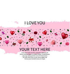 I love you concept with love element and pink vector