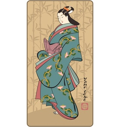 Japanese geisha vector