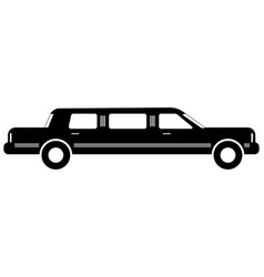 limousine simple flat icon vector image