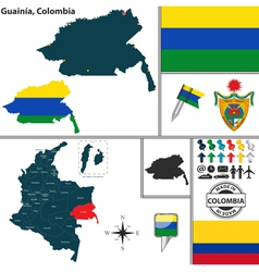 Map of Guainia vector