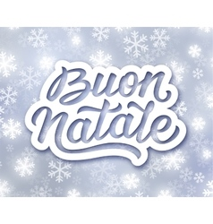 Merry Christmas hand lettering text in italian vector