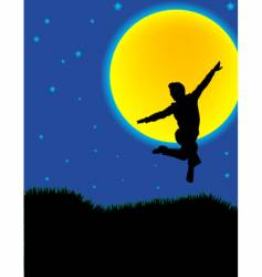 Moonlight dancer vector