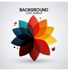 Multicolored flower background with abstract vector