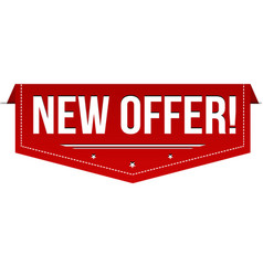 New offer banner design vector