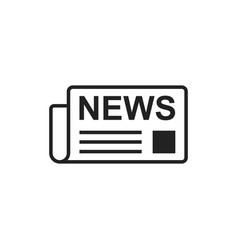 Newspaper flat icon news symbol logo vector