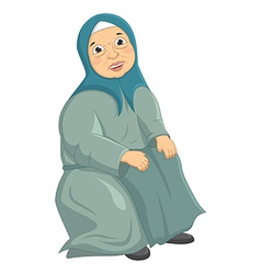Old Woman Siting vector
