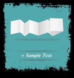 Paper art vector image