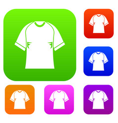 Raglan tshirt set color collection vector