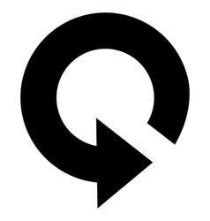 Restart icon vector