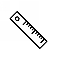 Ruler Outline Icon vector image