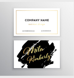 Set of business card templates with brush vector