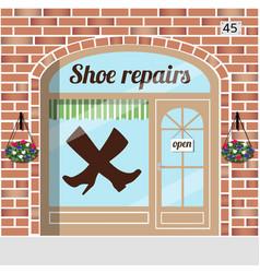shoe repairs service vector image