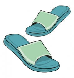 slippers vector image