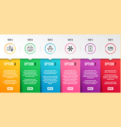 Snowflake printer and certificate icons set vector