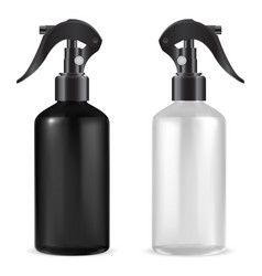 Spray bottle with trigger plastic cleaner liquid vector