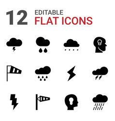 Storm icons vector