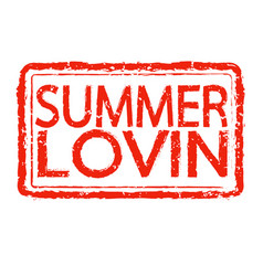 Summer lovin stamp text design vector