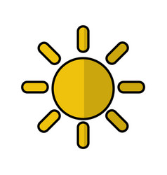 Sun day isolated icon vector