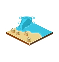 Tornado on Water Natural Disaster Icon vector