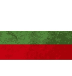 True proportions Bulgaria flag with texture vector image
