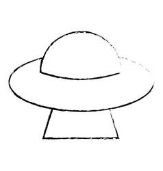 ufo invasion futuristic image sketch vector image