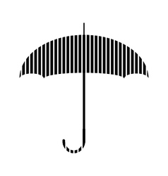 Umbrella sign on white vector image