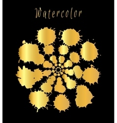 Watercolor splashes set vector image