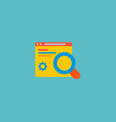 Website testing icon flat element vector