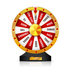 wheel of fortune isolated object on white vector image