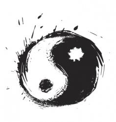 yinyang symbol vector image