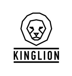 abstract lion head logo vector image