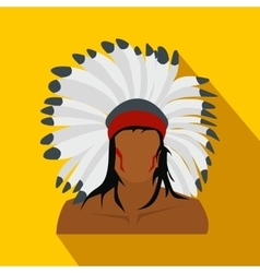 American indian flat icon vector image