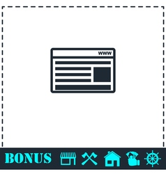 Browser icon flat vector image