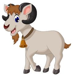 cartoon goat smiling vector image
