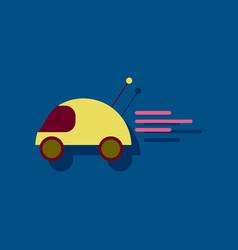 Flat icon design remote control car in sticker vector