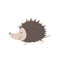 Smiling Hedgehog Running vector image