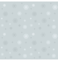 Celebratory pattern with snowflakes on the grey vector image