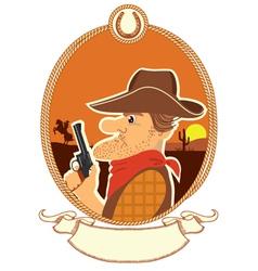 cowboy portrait vector image