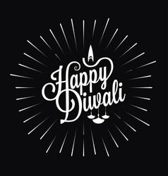 diwali festival logo star burst design background vector image