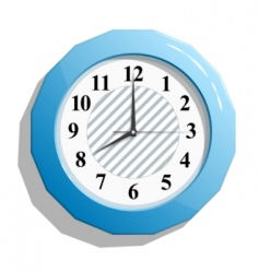 glossy clock vector image vector image