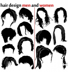 hair design vector image