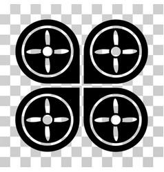 quadrocopter icon vector image vector image