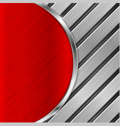 red metal brushed texture with diagonal iron vector image