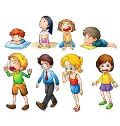 Sad people vector image vector image