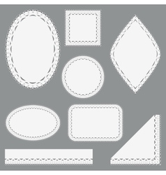 Set of lacy napkins ribbons and corners vector