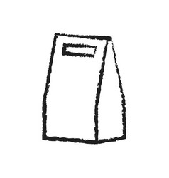 shopping bag icon flat design best vector image