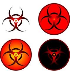 signs of bio hazard vector image