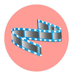 Tape film icon vector image