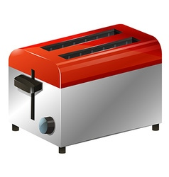 Toaster on white background vector image vector image